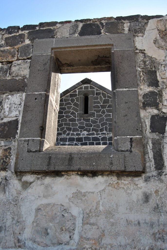 Une des fenêtre de l'Aapravasi Ghat