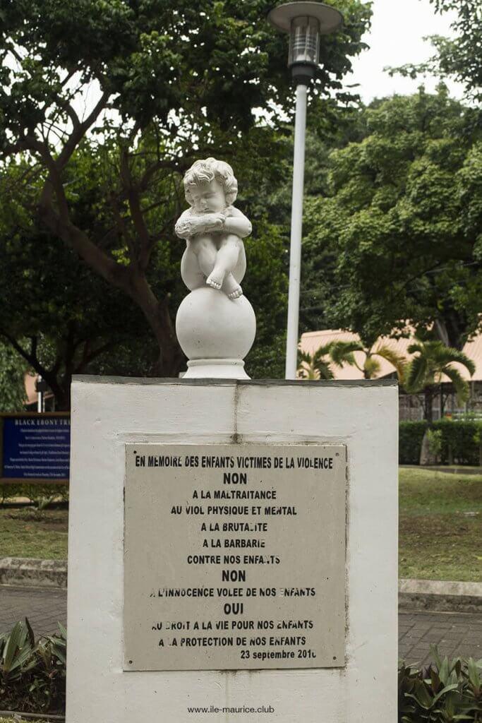 Jardin de la compagnie à Port Louis - memoire des enfants victimes de la violence