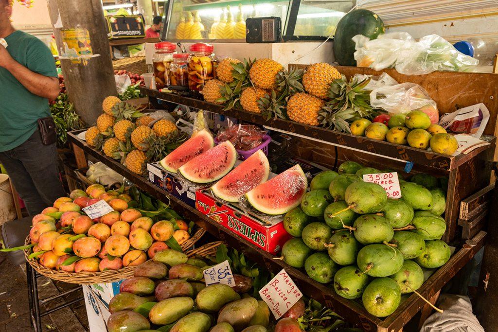Le marché de Port-Louis - les fruits