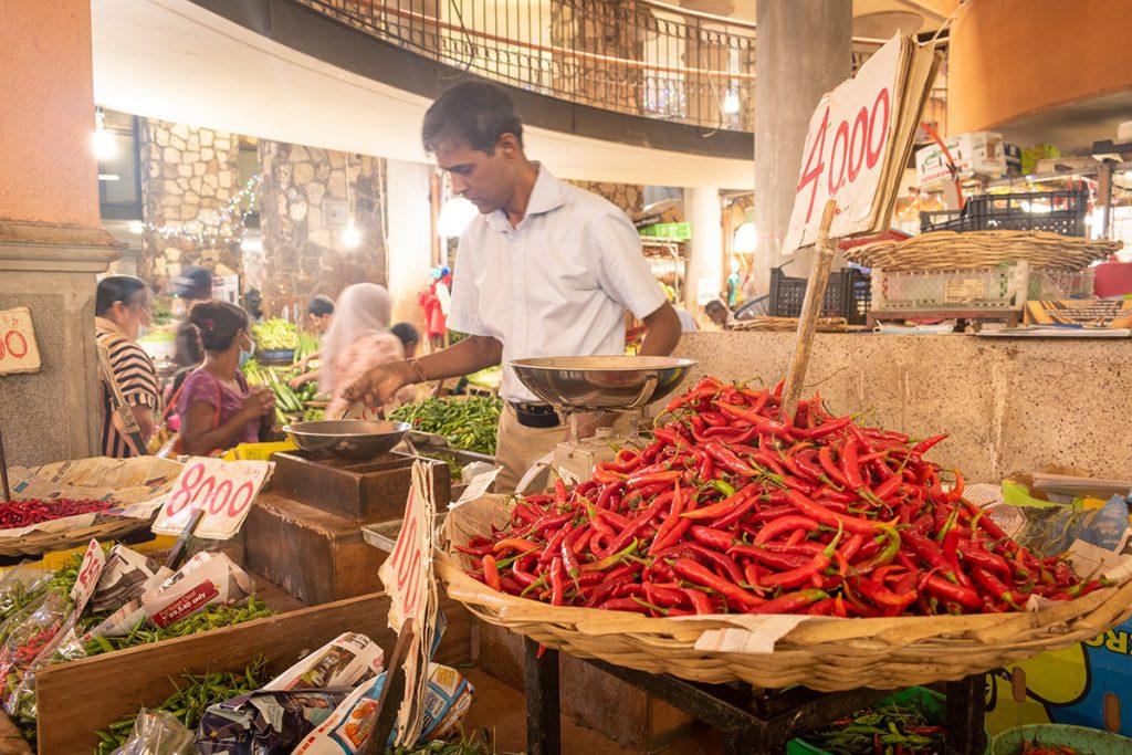Le marché de Port-Louis - les piments