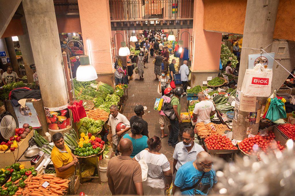 Le marché de Port-Louis - vue d'en haut