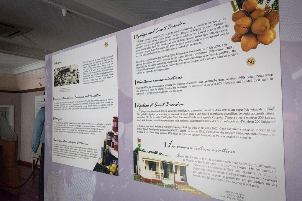 Musée de la poste - panneaux d'information - Ile Maurice